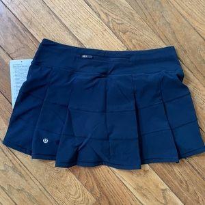 NWT Lululemon PACE RIVAL Tennis Skirt TRUE NAVY BLUE REGULAR length  4 6